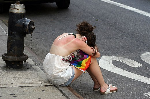 IN DUMPING YOUR HOT GIRLFRIEND OR BOYFRIEND? HE OR SHE IS NOW SITTING ON THE CURB IN LOWER MANHATTAN CRYING THEIR EYES OUT. YOU SHOULD BE PROUD. YOU DEFINITELY CHANGED THEIR LIVES. FROM HAPPY TO TOTALLY-DESTRUCTED.
