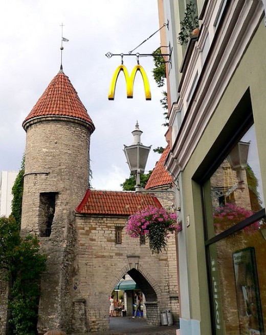 McDonald's in Tallinn, Estonia. I personally don't go near fast food like McDonald's back at home but as an expat, I crave it in my new environment.