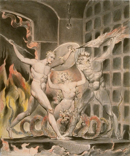 """Satan, Sin, and Death"" by Blake"