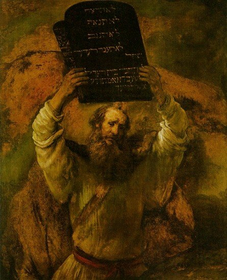 """Moses Breaks the Tablets"" by Rembrandt"
