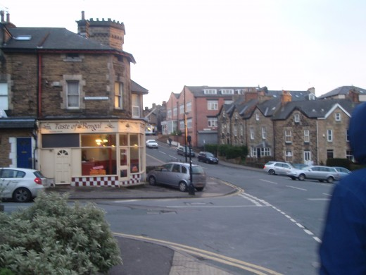Tiny shops & restaurants at Harrogate