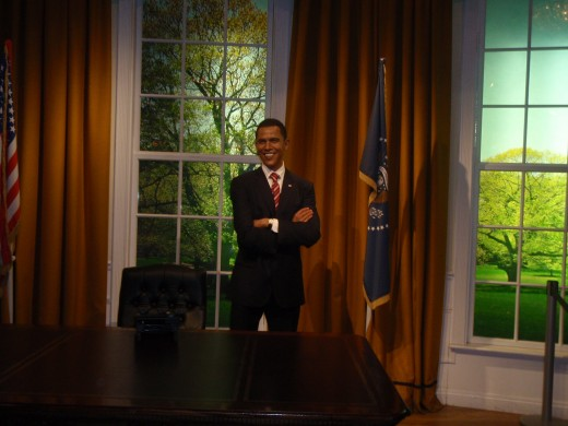 President Obama's wax statue at Madam Tussauds