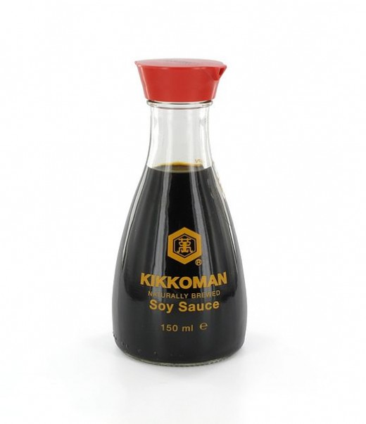 Even though it's not listed as an ingredient on the label, soy sauce contains glutamate.
