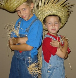 Kids or scarecrows - they both belong in the garden!