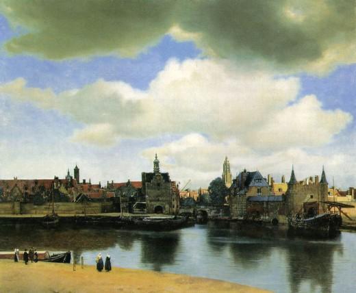 Vermeer van Delft, Delft view, 1661