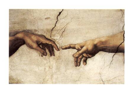 Michelangelo, Creation of Adam, detail