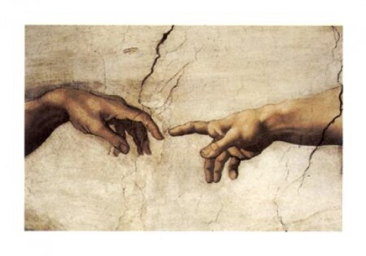 Michelangelo, Creation of Adam, detail