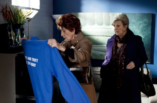 later Dot and Cora accompany Rose to the R&R where they find Andrews hoodie