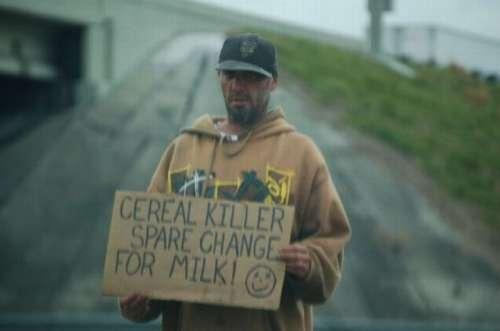 A homeless cereal killer