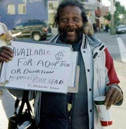 Adopt a homeless person