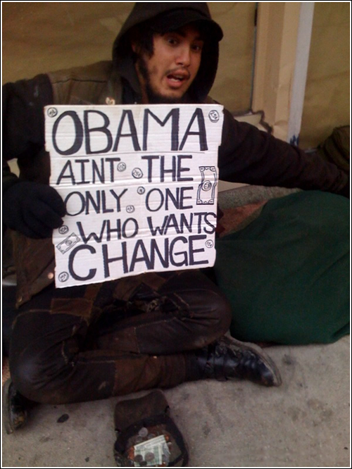 Obama and the homeless have something in common: they both want change
