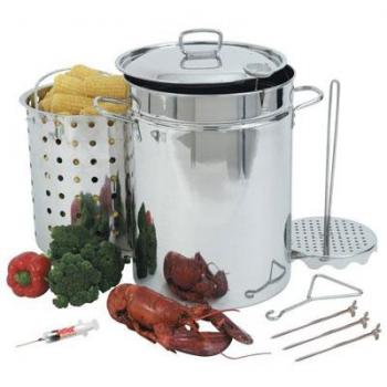 Bayou Classic 32 Qt Stainless Steel Stock Pot