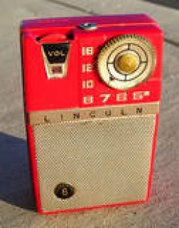 An old transistor radio.  I had one of these permanently stuck next to my ear in 1975.