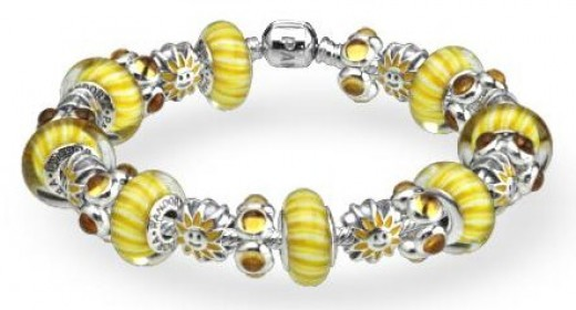 pandora bracelet ideas yellow pandora - Pandora Bracelet Design Ideas