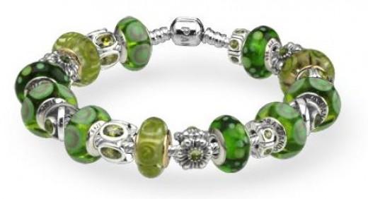 Pandora Bracelet Design Ideas blushing love bracelet Green Pandora Bracelet