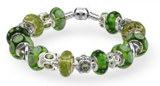 Green Pandora Bracelet
