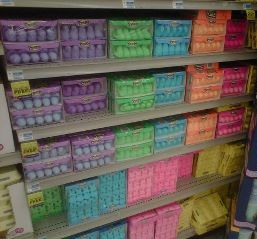 A rainbow of peeps! How can you choose just one?!