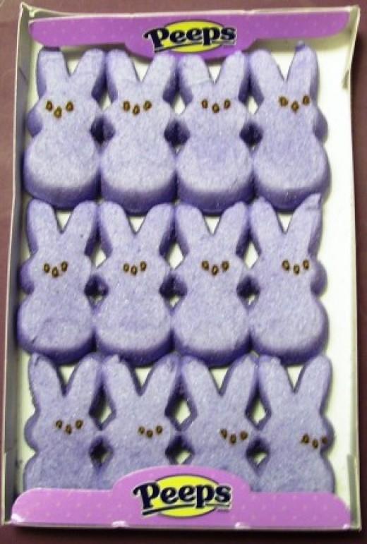 One little, two little, twelve little peeps bunnies!