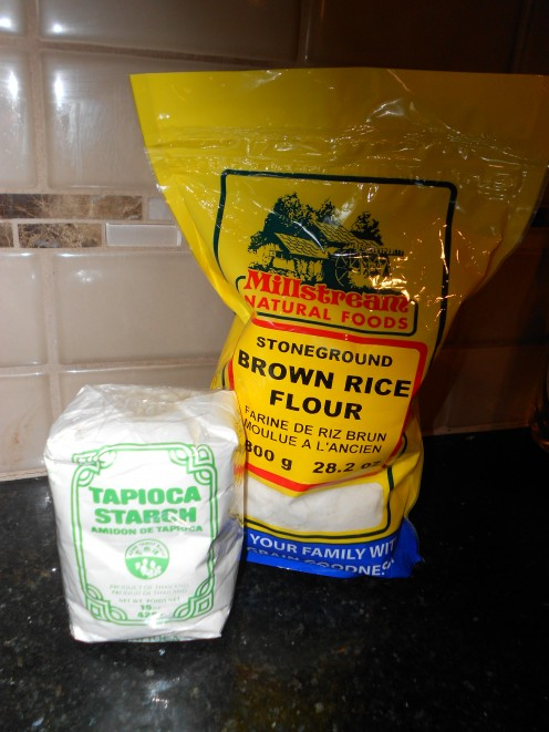 Replace regular flour and oats with brown rice flour and tapioca starch (usually found in the Asian food isle) to create delicious wheat and gluten free baking