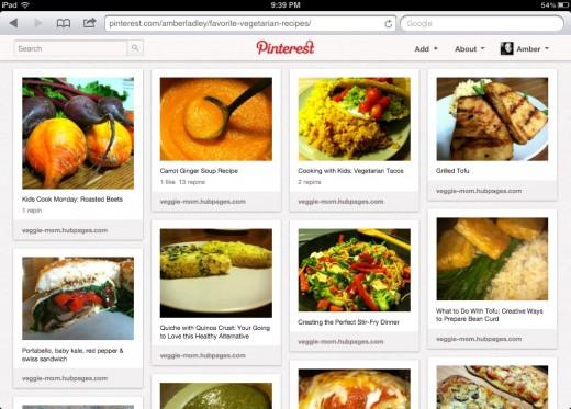 My Favorite Vegetarian Recipes Board on Pinterest