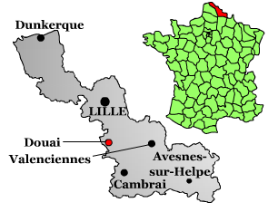 Map location of Douai