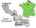 Map location of Douai