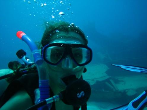 Scuba diver on a dive