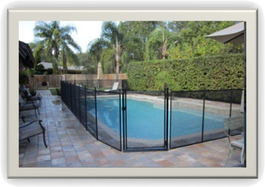 A swimming pool safety fence might only need to be placed around a section of the pool
