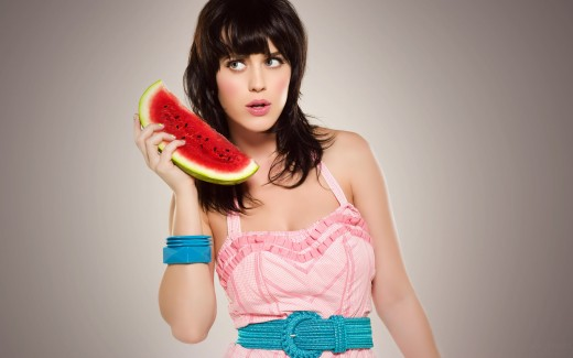 Katy Perry with watermelon