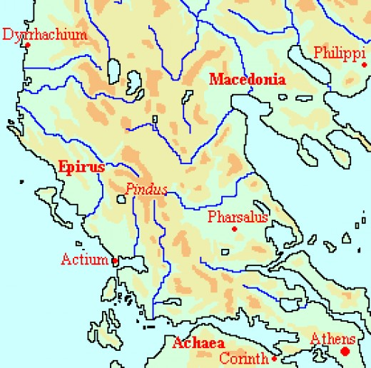 Greece, as it was in the time of Caesar.