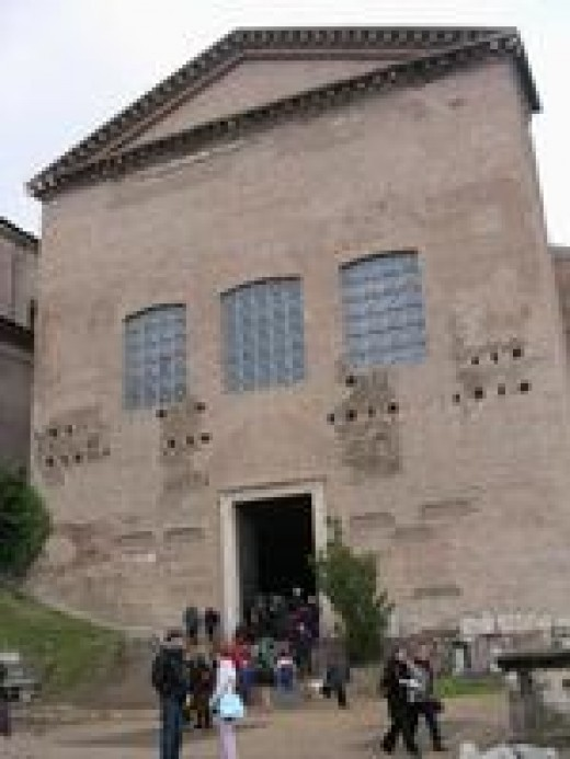 The Curia Julia originally erected by Julius Caesar, served as the Senate house right through until the end of the Western Roman Empire.