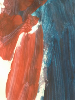 Bold colours and assertive brush strokes - a positive indiction of self esteem and security.