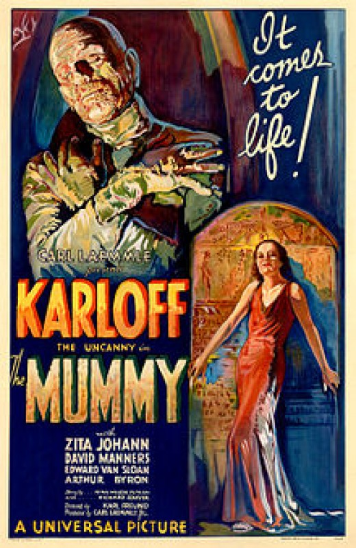 One of the horror movies made about mummies seeking vengeance on those that disturbed them.