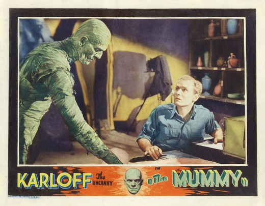 1932 Movie Poster About The Mummy.