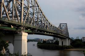 The Story Bridge is the longest cantilever bridge in Australia. Total length 777 meters longest span 282 meters, height 74 meters it was opened the 6 July 1940
