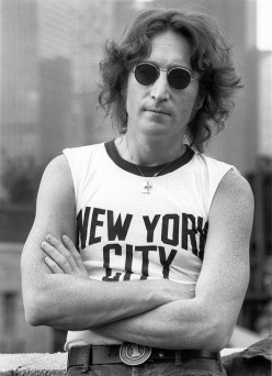 """THIS IS JOHN LENNON WITH """"REAL"""" SUN SHADES. THIS IS FINE. AT LEAST THE SHADES SERVE A PURPOSE."""