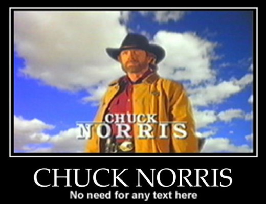 Chuck Norris - who doesn't love a good roundhouse kick to the face? lol