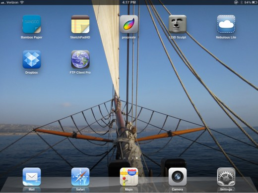 Here's the apps I'll cover on this page (minus the default apps at bottom).