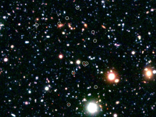 Image highlights newly formed galaxies and galaxy clusters at the far ends of the Universe.