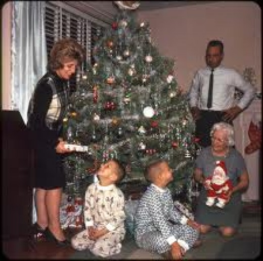 Family at Christmas time. What a treasure to remember forever.