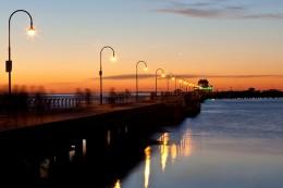 Night view @ St Kilda Pier
