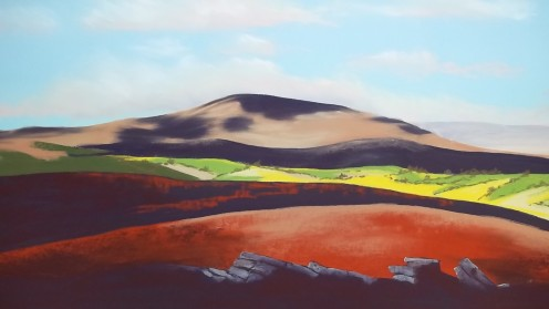 Dartmoor From Shapley Common.  unison pastels on Pastelmat paper.