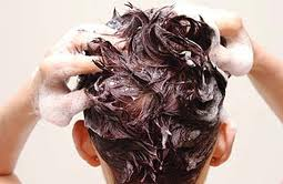 Massage your scalp with the shampoo