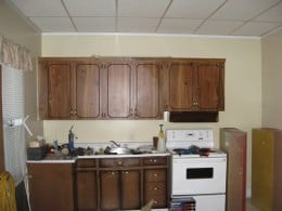 This is a rental property I purchaed which had a very dingy kitchen with unmatched cupboards