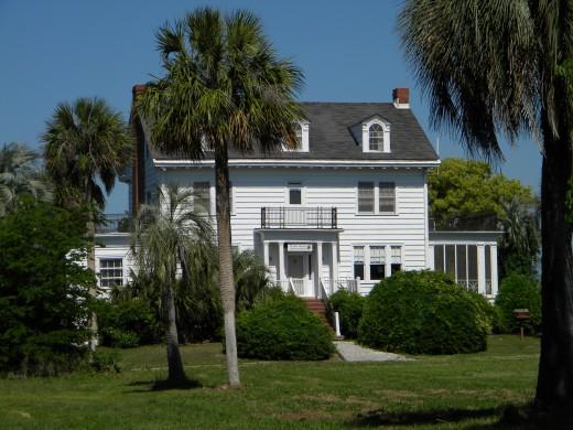 The Pierce Butler plantation house on Butler Island.