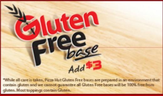 Gluten Free pizza base Advertisement