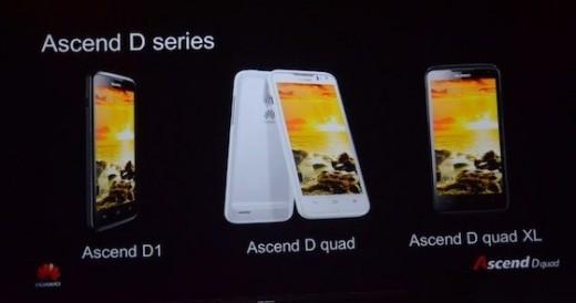 Huawei announces the Ascend D quad, D quad XL, and Ascend D1