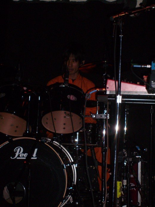 Yano on drums