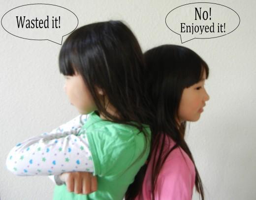 Disagreements in Siblings