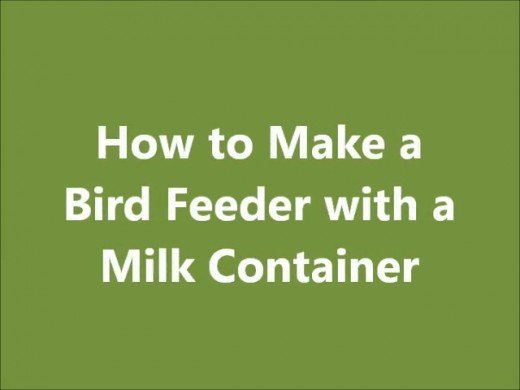 How to make a simple bird feeder with a milk carton or jug for How to build a bird feeder easy